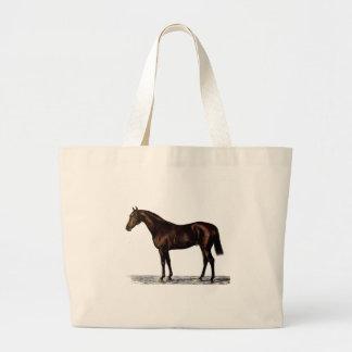 Brown Horse Large Tote Bag