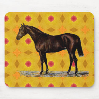 Brown Horse Mouse Pad