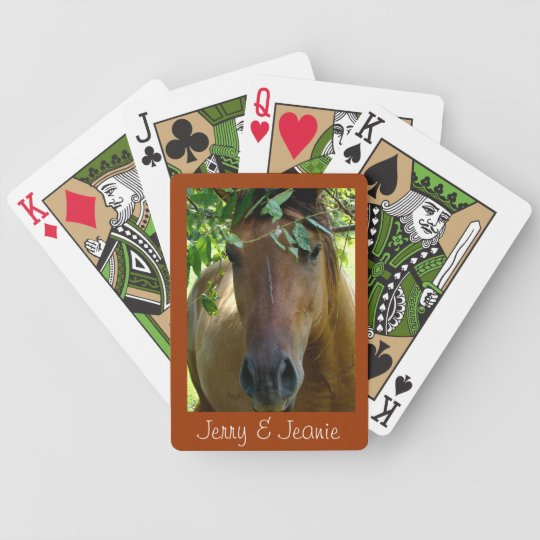 Brown Horse Playing Cards- personalize Poker Deck