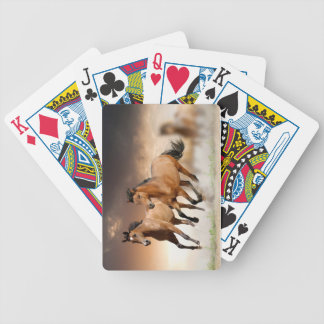 Brown Horse run - freedom Bicycle Playing Cards