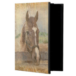 Brown Horse with Halter on Old Wood Powis iPad Air 2 Case
