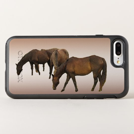 Brown Horses Animal OtterBox Symmetry iPhone 7 Plus Case