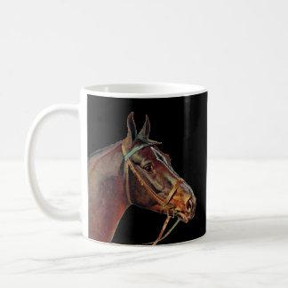 Brown horses coffe mug