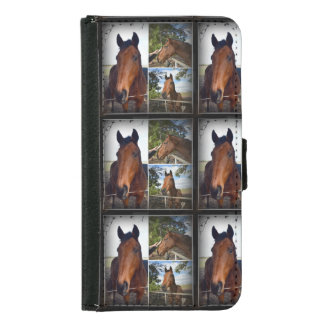 Brown Horses Photo Collage Galaxy S5 Wallet