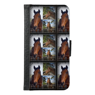 Brown Horses Photo Collage Galaxy S6 Wallet