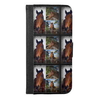 Brown Horses Photo Collage iPhone 6/6s Plus Wallet