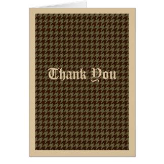 Brown Houndstooth Handsome Gentlemen's Pattern Card