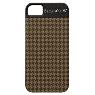 Brown Houndstooth Handsome Gentlemen's Pattern iPhone 5 Cover