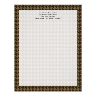 Brown Houndstooth Handsome Gentlemen's Pattern Letterhead