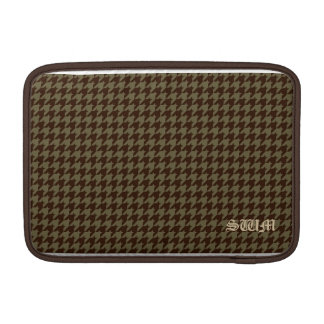 Brown Houndstooth Handsome Gentlemen's Pattern MacBook Air Sleeve