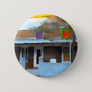 Brown House in Key West 2 Inch Round Button