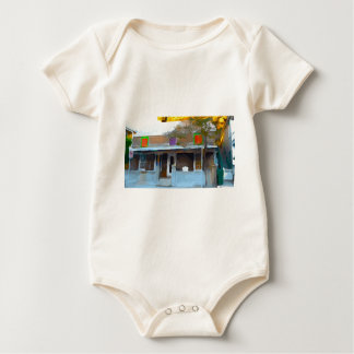 Brown House in Key West Baby Bodysuit