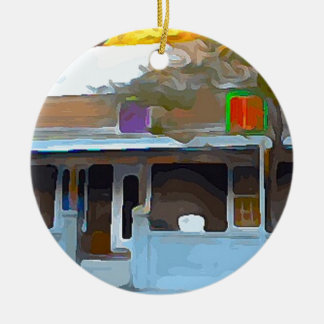 Brown House in Key West Ceramic Ornament