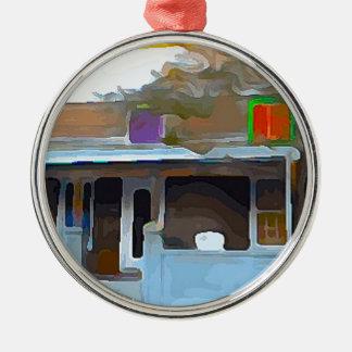 Brown House in Key West Metal Ornament