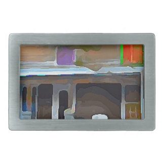 Brown House in Key West Rectangular Belt Buckle