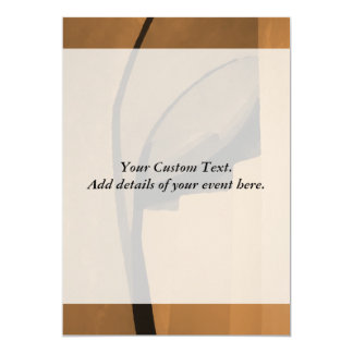 Brown industrial style abstract. 5x7 paper invitation card