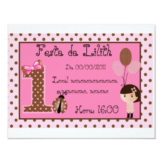 Brown invitation and Rosa