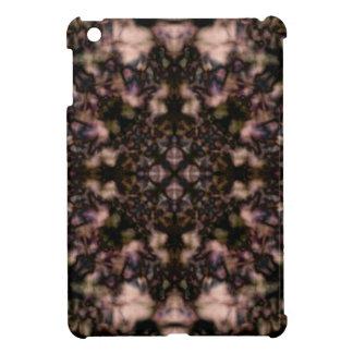 Brown kaleidoscope pattern iPad mini cover