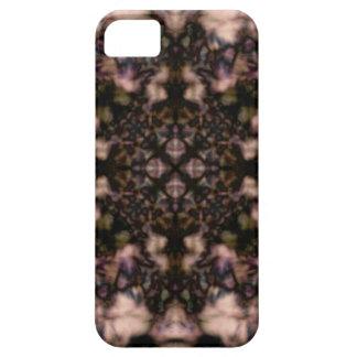 Brown kaleidoscope pattern iPhone 5 cases