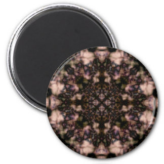 Brown kaleidoscope pattern magnet