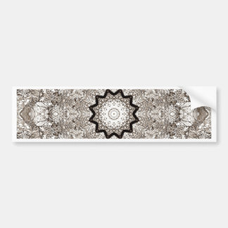 Brown Kaleidoscope Tree Bark Bumper Sticker
