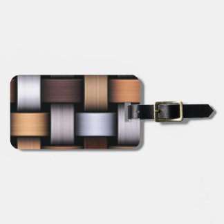 Brown knit texture luggage tag