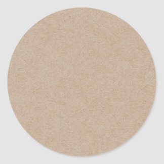 Brown Kraft Paper Background Printed Classic Round Sticker