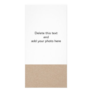 Brown Kraft Paper Background Printed Custom Photo Card