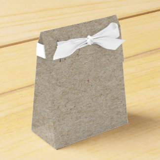 Brown Kraft Paper Rustic Party Treat Favor Boxes