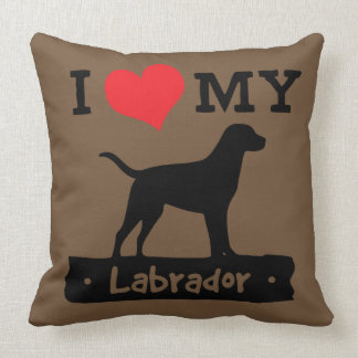 Brown Labrador Pillow by Mini Brothers