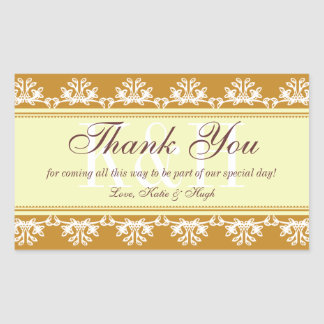 Brown lace border thank you out of town gift bag