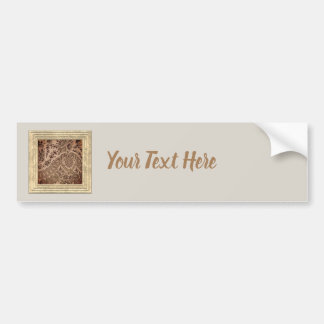 Brown Lace Bumper Sticker