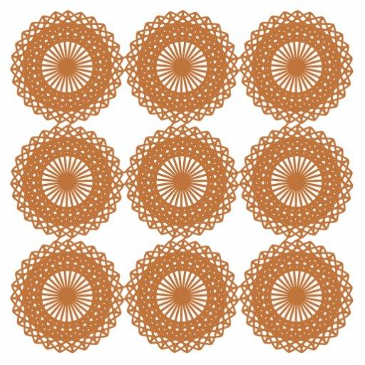 Brown Lace Pattern Design. Photo Sculpture