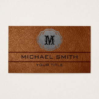 Brown Leather Business Card