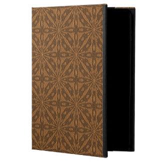 Brown Leather Geometric Embossed Look iPad Air Case