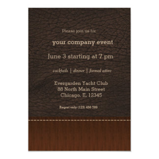 Brown leather look card