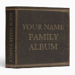Brown Leather Print Family Album