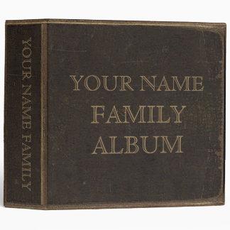 Brown Leather Print Family Album 3 Ring Binder
