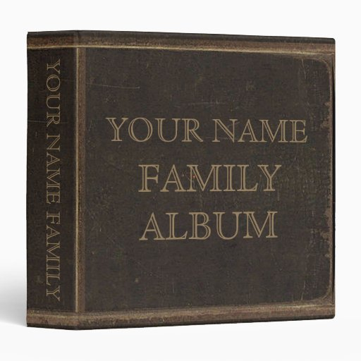 Brown Leather Print Family Album Binders