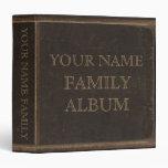 Brown Leather Print Family Album Binders