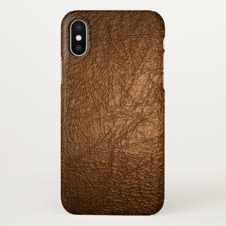 brown leather print iPhone x case
