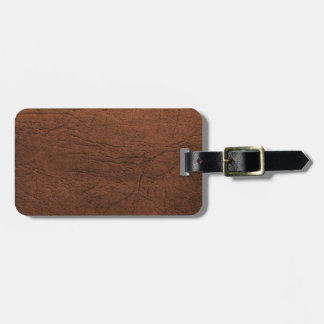 Brown Leather Texture Monogram Luggage Tag