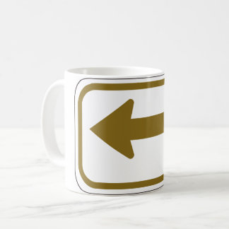 Brown Left Arrow Mug