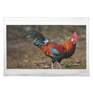 Brown Leghorn Rooster Placemat