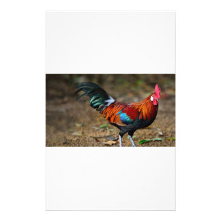 Brown Leghorn Rooster Stationery