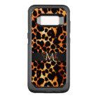Brown Leopard Animal Print Monogram OtterBox Commuter Samsung Galaxy S8 Case