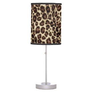 Brown Leopard Print - Classic Stylish Table Lamp