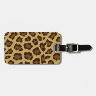 Brown Leopard Print Luggage Tag