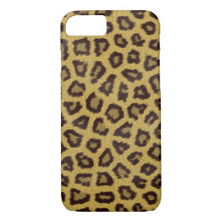 Brown Leopard Skin Pattern Fabric Look iPhone 7 Case