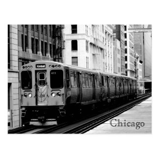 Brown Line Postcard